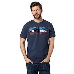 Animal - Big and tall navy triple logo print crew neck t-shirt