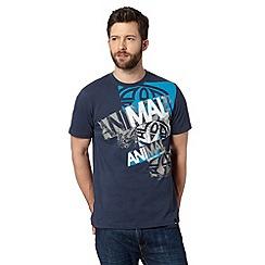 Animal - Navy graphic logo print crew neck t-shirt