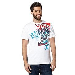 Animal - White shoulder logo print t-shirt
