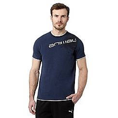 Animal - Big and tall navy layer shoulder logo t-shirt