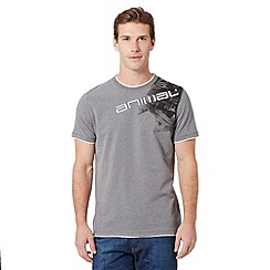 Animal - Grey layer shoulder logo t-shirt