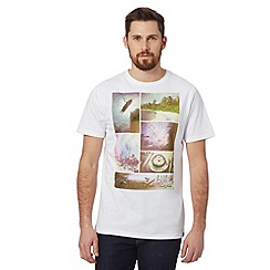 Animal - Big and tall white island vintage photo print t-shirt