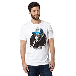 Animal - Big and tall white chimp crew neck t-shirt