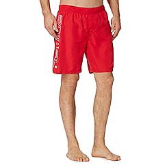 Animal - Red side logo swim shorts