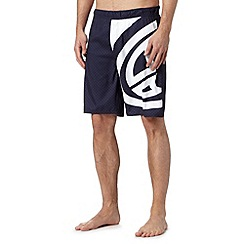 Animal - Navy checked large logo swim shorts