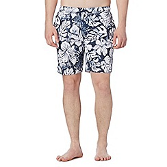 Animal - Navy floral print swim shorts