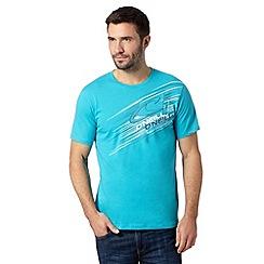 O'Neill - Turquoise logo print crew neck t-shirt