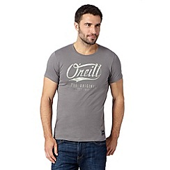 O'Neill - Grey worn logo crew neck slim fit t-shirt