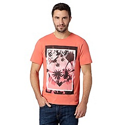 O'Neill - Pink palm tree logo print crew neck t-shirt