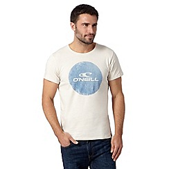 O'Neill - Natural round logo crew neck slim fit t-shirt