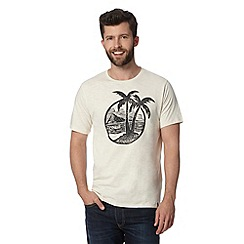 O'Neill - Off white palm tree circle print t-shirt