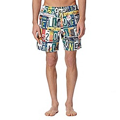 O'Neill - White number plates swim shorts