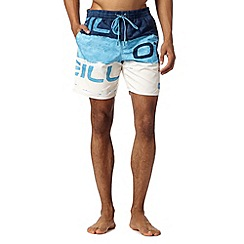 O'Neill - Blue stacked logo swim shorts