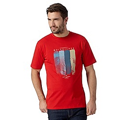 Quiksilver - Big and tall red wave print t-shirt