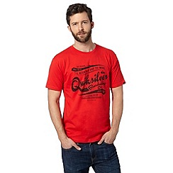 Quiksilver - Red 'Quicksilver' crew neck t-shirt