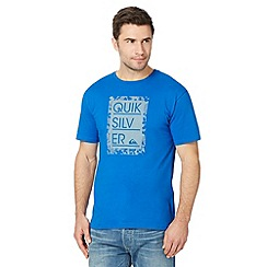 Quiksilver - Big and tall bright blue framed logo t-shirt