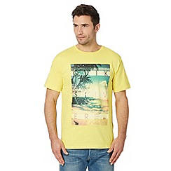 Quiksilver - Yellow island photo t-shirt