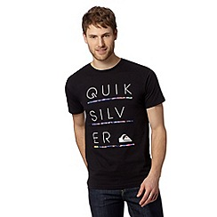 Quiksilver - Black stacked logo t-shirt