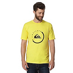 Quiksilver - Yellow circle logo print t-shirt