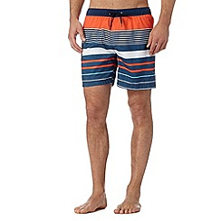 Quiksilver - Orange striped swim shorts