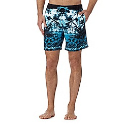 Quiksilver - Blue palm tree swim shorts