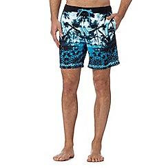Quiksilver - Blue palm tree swim shorts