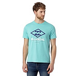 Billabong - Big and tall turquoise logo jersey t-shirt