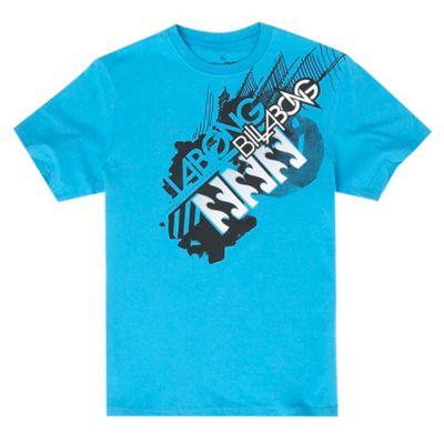 Blue logo shoulder print t-shirt