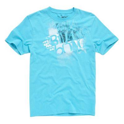 Aqua word applique t-shirt