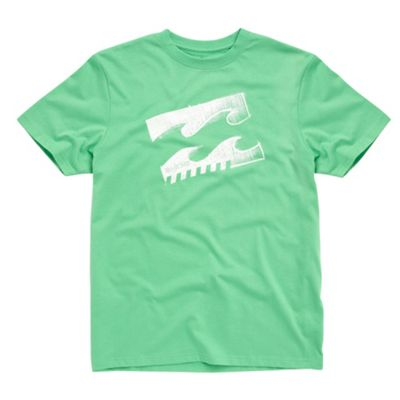 Green volume boxed wave t-shirt