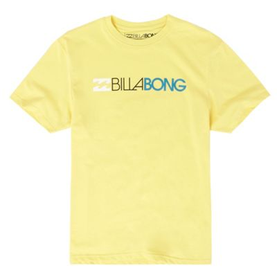 Billabong Yellow logo t-shirt
