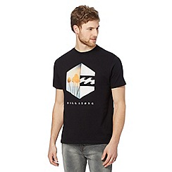 Billabong - Big and tall black hexagon logo t-shirt