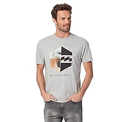 Billabong - Grey logo cotton crew neck t-shirt