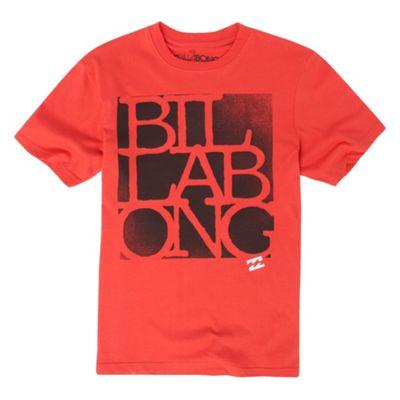 Red black script t-shirt