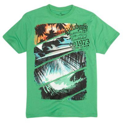 Green palm print t-shirt