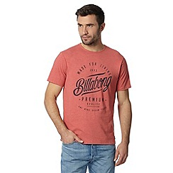 Billabong - Red logo print t-shirt