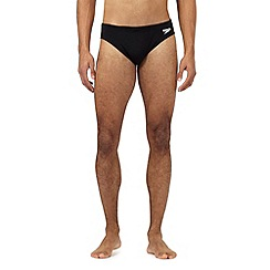 Speedo - Big and tall black plain swim trunks