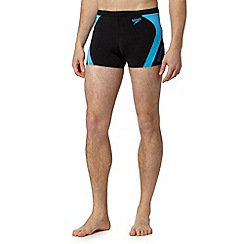 Speedo - Big and tall black panel side swim trunks
