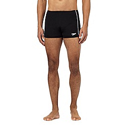 Speedo - Big and tall black stitched swim trunks