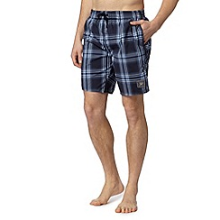 Speedo - Big and tall navy checked swim shorts