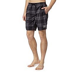 Speedo - Black checked swim shorts