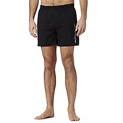 Speedo - Big and tall black plain swim shorts