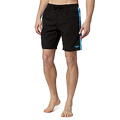 Speedo - Big and tall black panelled side swim shorts