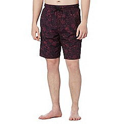 Red Herring - Black skull print swim shorts