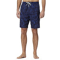 Red Herring - Blue skull print swim shorts