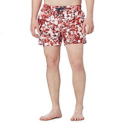 Red Herring - Red tie dye floral swim shorts