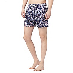 Red Herring - Pink batik flower swim shorts