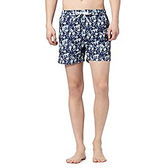 Red Herring - Green batik flower swim shorts