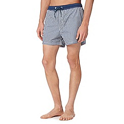 Red Herring - Navy gingham swim shorts