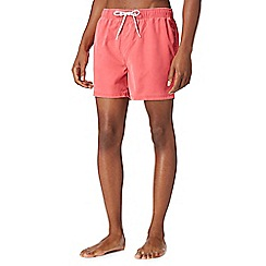 Red Herring - Big and tall dark pink worn effect swim shorts